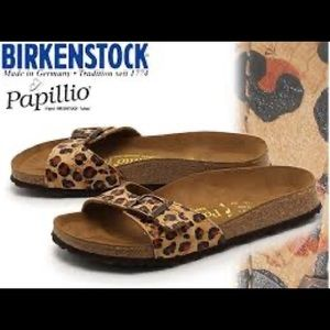 Birkenstock papillon animal print Eva sandals S-38